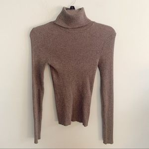 F21 Gray Fitted Turtleneck